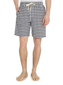 Gingham poplin sleep short