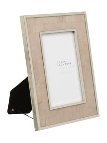 Casa Couture Mother of Pearl Frame with Silver Inlay