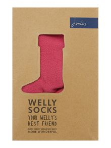 Girls fleece welly socks