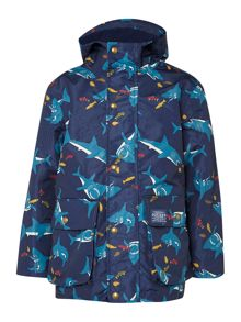 Boys shark print coat