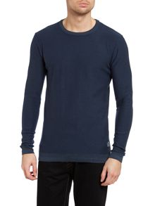 Mens sharp o-neck knit