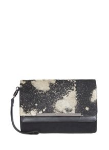 Black Alita Pony Skin Clutch