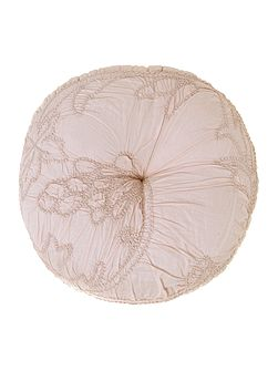 Soft pink voile cushion