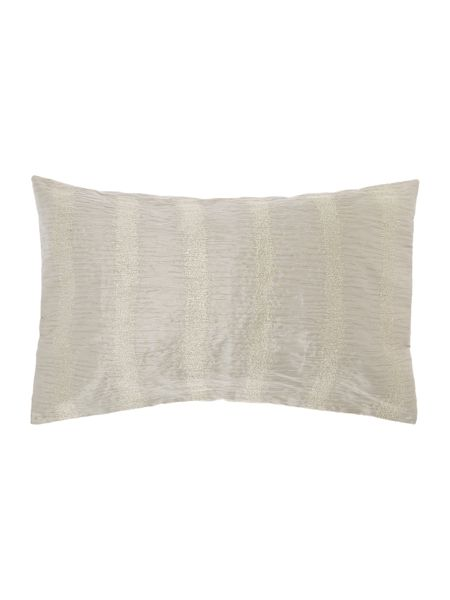 Casa Couture Silver embroidered cushion