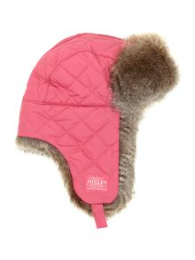 Girls quilted faux fur lined sherpa