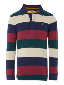Boys long sleeve block stripe rugby