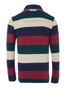 Boys long sleeve black stripe rugby