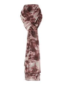 Ink Spill Floral Scarf
