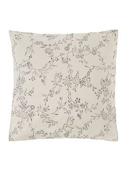 Shabby Chic Grey floral embroidery