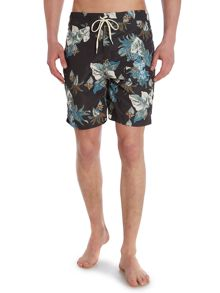 Criminal Tiki Beach print swim shorts