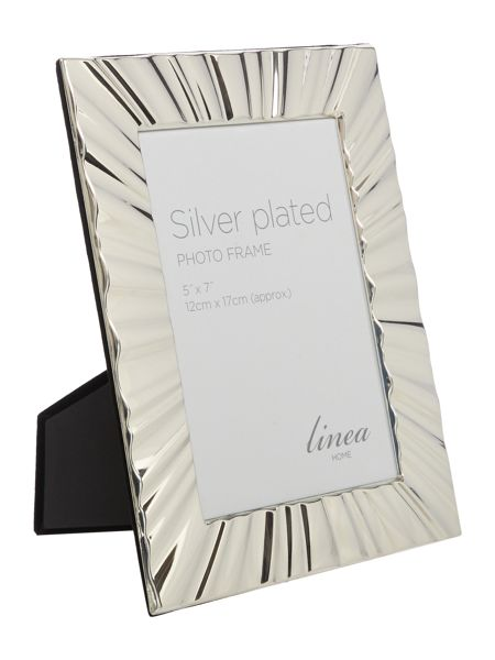 Linea Ripple Silver Plated Frame 5x7