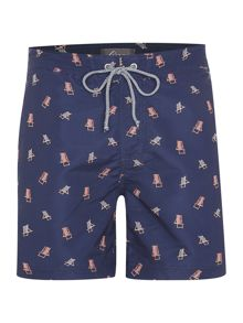 Linea Deck Chair Print Swim Short