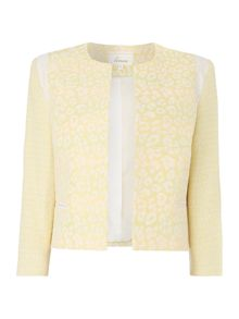 Linea Primrose animal edge to edge jacket
