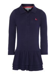 Girls polo pique dress