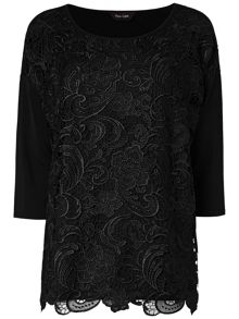 Phase Eight Davinia lace mix knit jumper