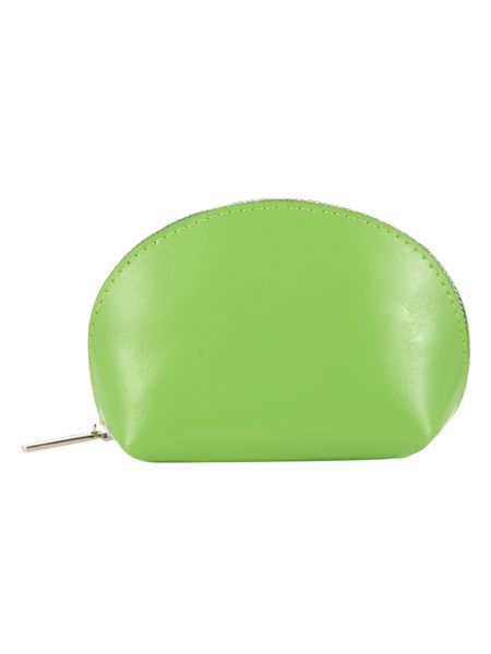 Paper Thinks Green leather coin pouch