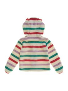 Baby girls button through fleece