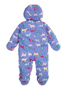 Joules Girls Horse print hooded snowsuit