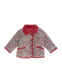 Baby girls classic quilted jacket