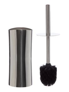 Curved Stainless Steel Toilet Brush & Holder