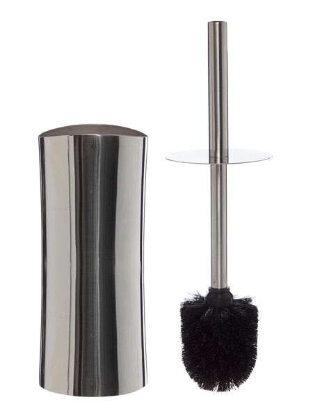 Linea Curved Stainless Steel Toilet Brush & Holder