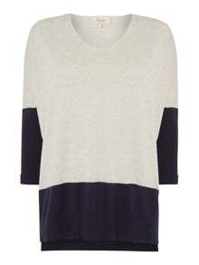 Linea Weekend V-neck colour block jumper