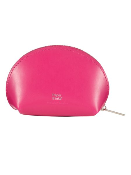 Paper Thinks Pink leather coin pouch