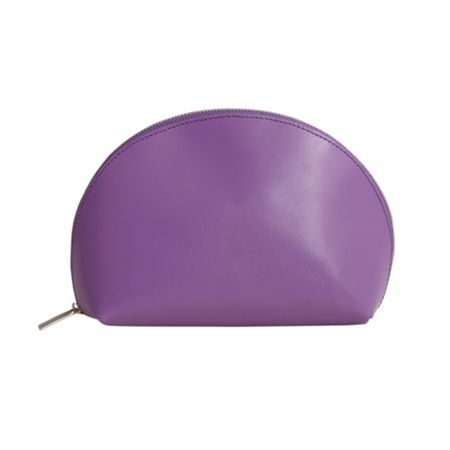 Paper Thinks Purple leather medium cosmetic bag