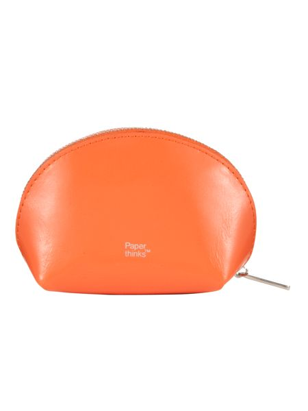 Paper Thinks Orange leather coin pouch