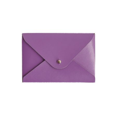 Paper Thinks Purple leather mini travel card
