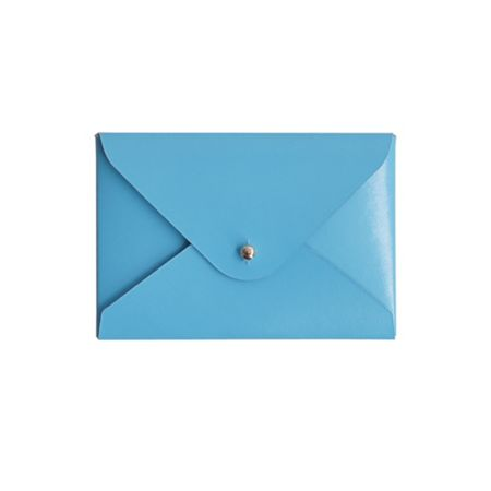 Paper Thinks Blue leather mini travel card