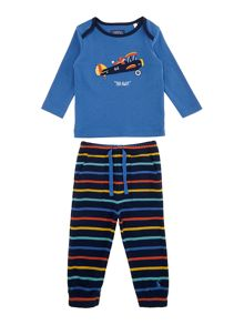 Baby boys plane applique two piece set
