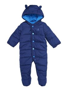 Baby boy hooded pramsuit