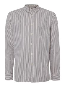 Howick Turlock Button Down Stripe Oxford Shirt