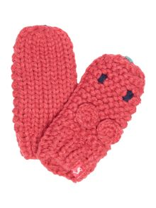 Baby girls knitted character mittens
