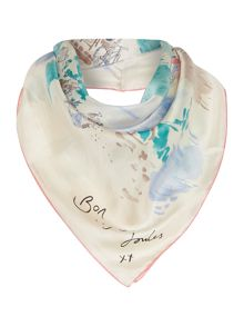 French market bloomfiled silk square scarf