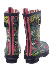 French navy chelsea printed molly welly