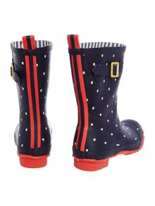 Navy spot printed molly welly