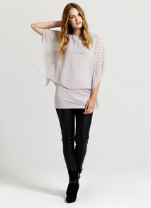 Lilac Square Bead Double Layer Top