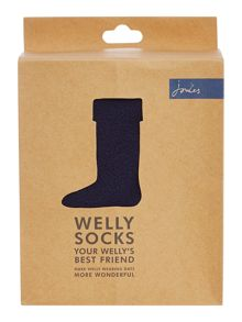 Fleece welly socks