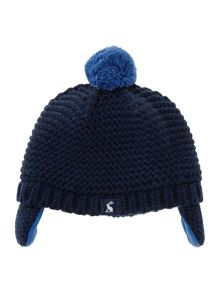 Baby boys knitted bobble hat