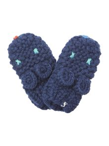 Baby boys knitted character mittens