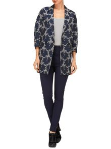 Mia rose jacquard coat