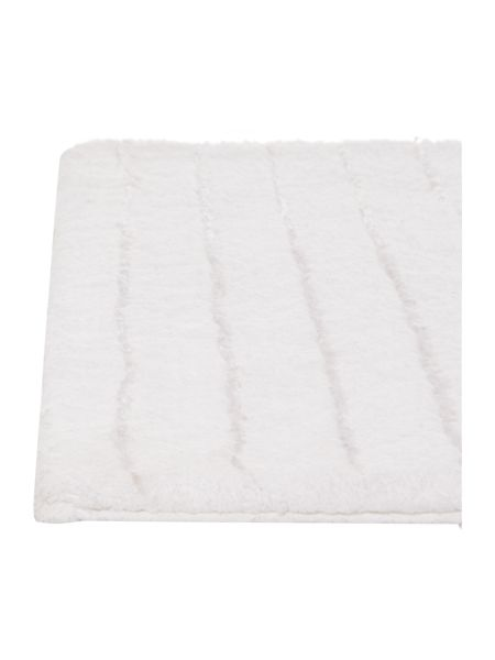 Casa Couture Stripe Bath Mat in White