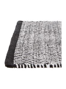 Living by Christiane Lemieux Zig Zag Bath Mat in Monochrome