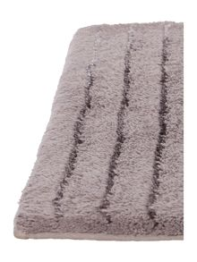 Casa Couture Stripe Bath Mat in Smoke