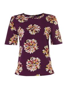 Large scale floral blouse