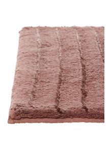 Casa Couture Stripe Bath Mat in Berry