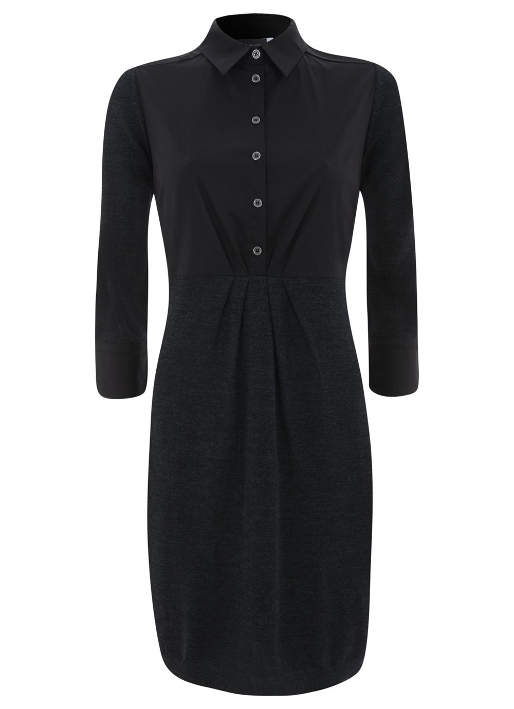 Charcoal Shirt Knit Dress