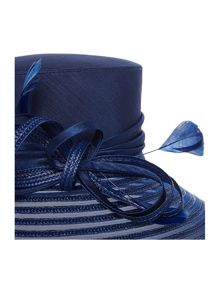 Penelope crinolin striped small brim hat